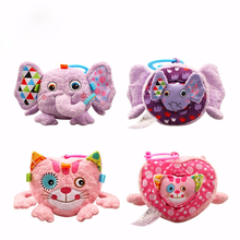 Music Animal Cloth Building Blocks Infant Baby Cloth Doll Soft Rattle Early Educational Baby Toy Soft Plush Baby Educational Toy
