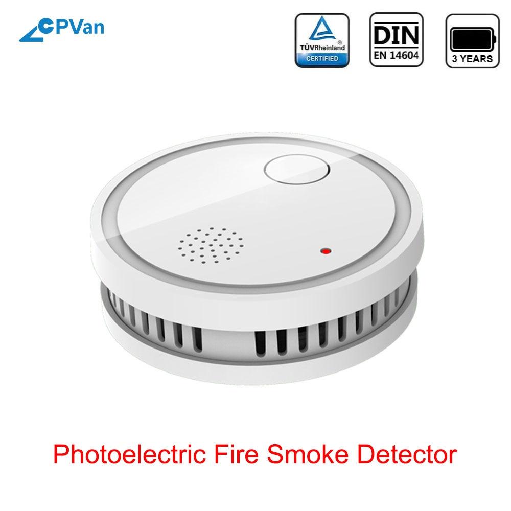 CPVan ES63-A5 Smoke Detector EN14604 Listed CE Certified Sensor Detector Smoke Sensor Wireless Fire Sensor For Home Security