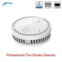 CPVan ES63 A5 Smoke Detector EN14604 Listed CE Certified Sensor Detector Smoke Sensor Wireless Fire Sensor for Home Security