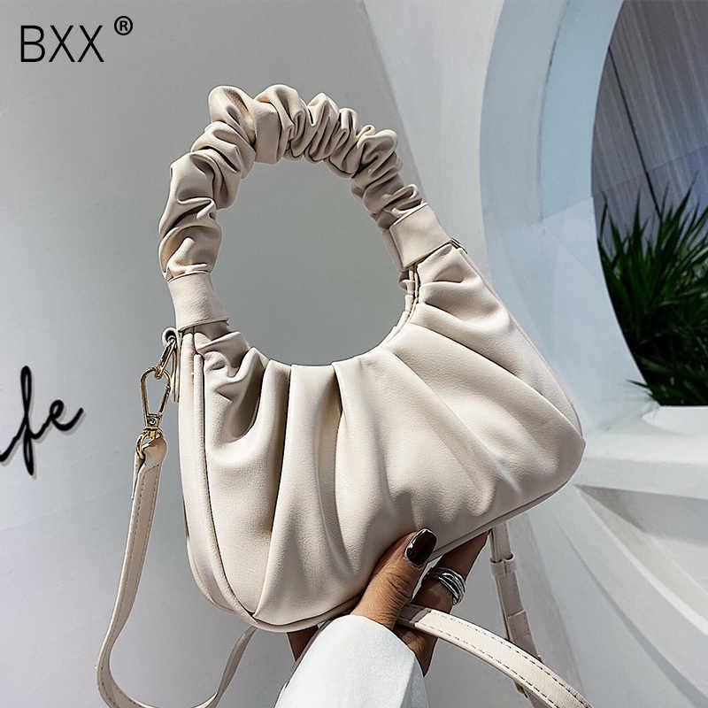 [BXX] Falten Design PU Leder Crossobdy Taschen Für Frauen 2020 Elegante Schulter Handtaschen Weibliche Reise Totes Dame Hand tasche HN296