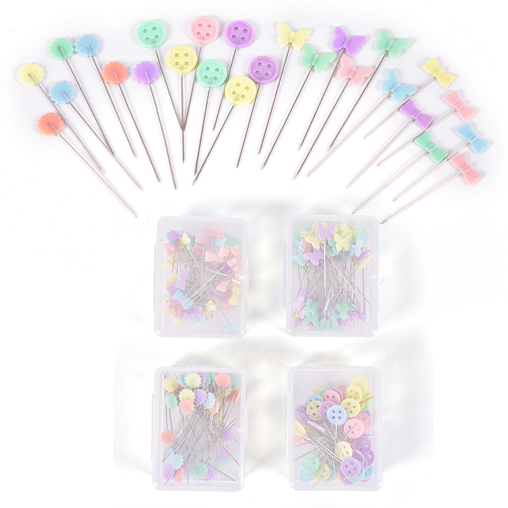 50pcs/set Patchwork Needle Craft Flower Button Head Pins Embroidery Pins For DIY Quilting Tool Sewing Accessories