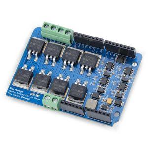 Image 4 - לelecrow כפולה ערוץ H גשר מנוע Shield V1.5 נהג IRF3205S MOSFET DC מנוע 8A 22V אלקטרוני ערכת DIY