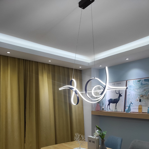 Image 2 - Coffee Finish Hanging lamp Modern Led Chandelier For bed Dining room kitchen suspension luminaire Pendant Chandelier Fixture