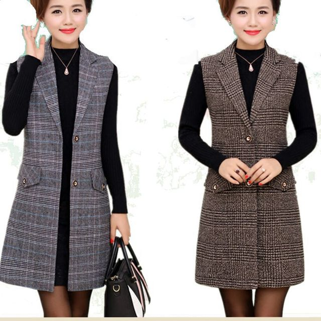 Plus Size 5XL Elegant Fashion Mom's Vest Long Red Women's Sleeveless Jacket Cotton Women's Vest Feminine Coat Long Waistcoat 1