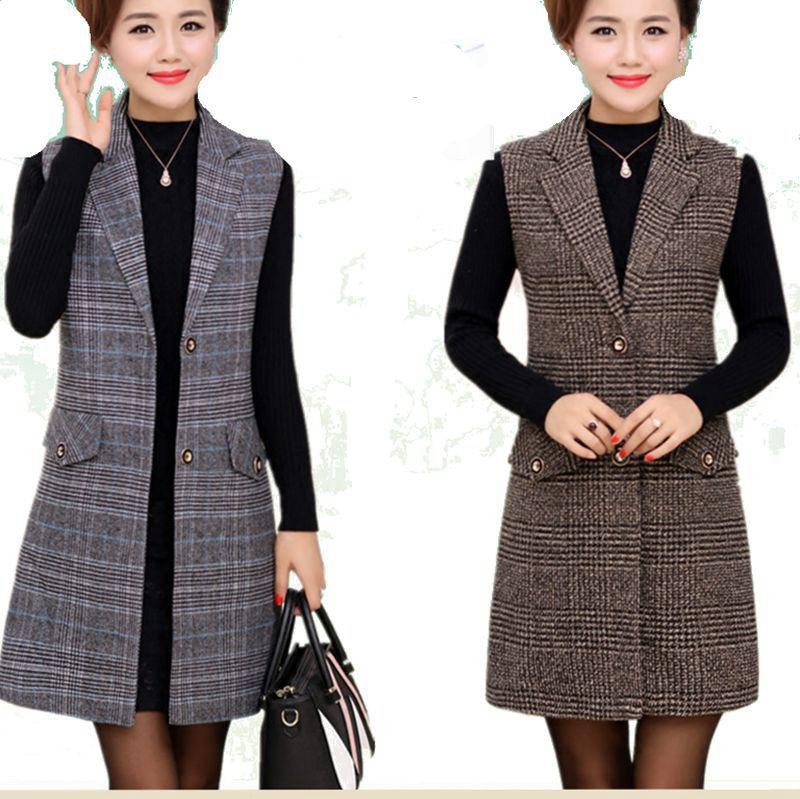Plus Size 5XL Elegant Fashion Mom's Vest Long Red Women's Sleeveless Jacket  Cotton Women's Vest Feminine Coat Long Waistcoat Vests & Waistcoats  -  AliExpress