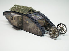 3D Paper Model 1:35 British Mark.I Male Tank World of Tanks Chariot Diecast Manual DIY Military Collection Gifts(China)