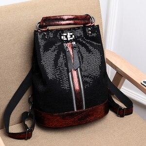 Image 4 - 2019 винтажный рюкзак для женщин, высококачественные кожаные рюкзаки, многофункциональная женская сумка на плечо, школьная сумка высокой емкости для девочек