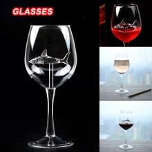 Crystal Glass Wine-Bottle Shark 300ml-3 European Gift Red High-Heel