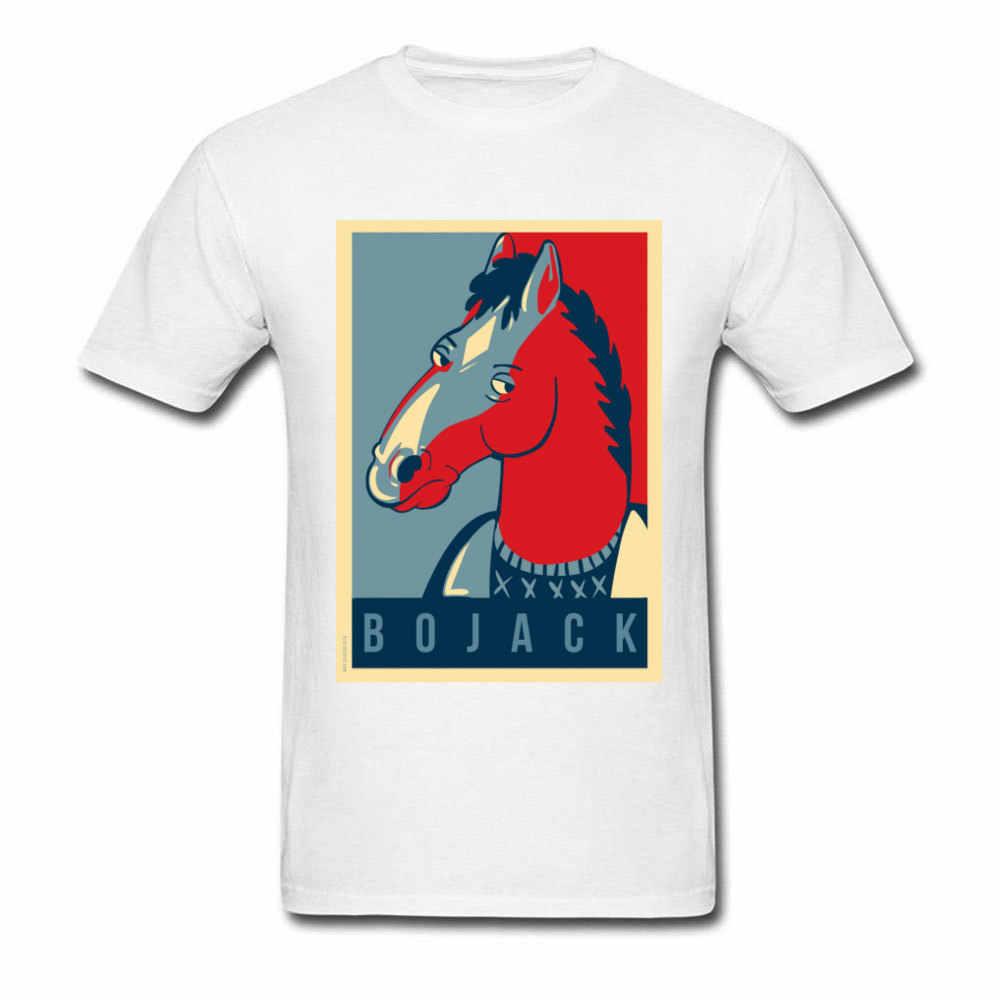 Bojack Poster T-Shirt Da Uomo Cavaliere T Camicia Whisky Abbigliamento Amante Divertente Hip Hop Magliette E Camicette Magliette Adulto Comics Stampa Cotone Streetwear