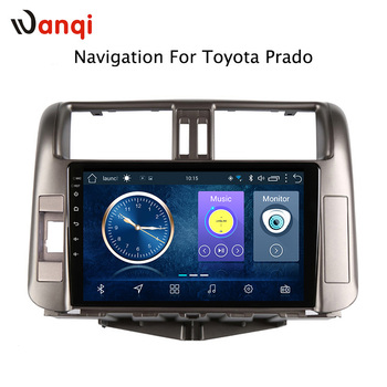 wanqi Car Radio Multimedia no 2 din Android 8.1 Video Player Navigation GPS For Toyota LAND CRUISER PRADO J150 2009-2013 9 inch android 9 0 car navigation gps for toyota land cruiser prado150 2009 2013 multimedia player wifi dsp radio 2 din player