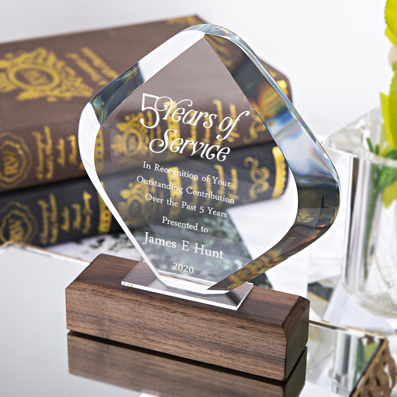 Crystal Odyssey Recognition Award Engraved Personalized