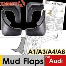 Echt Xukey Auto Spatlappen Voor Audi A3 A4 A6 (8E 8P B6 B7 C6) spatlappen Splash Guards Mud Flap Spatborden Spatbord Auto Accessoires