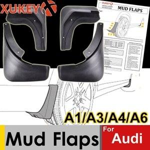 Image 1 - אמיתי XUKEY רכב בוץ דשים עבור אאודי A3 A4 A6 (8E 8P B6 B7 C6) mudflaps משמרות Splash בוץ דש מגני בץ פגוש אביזרי רכב