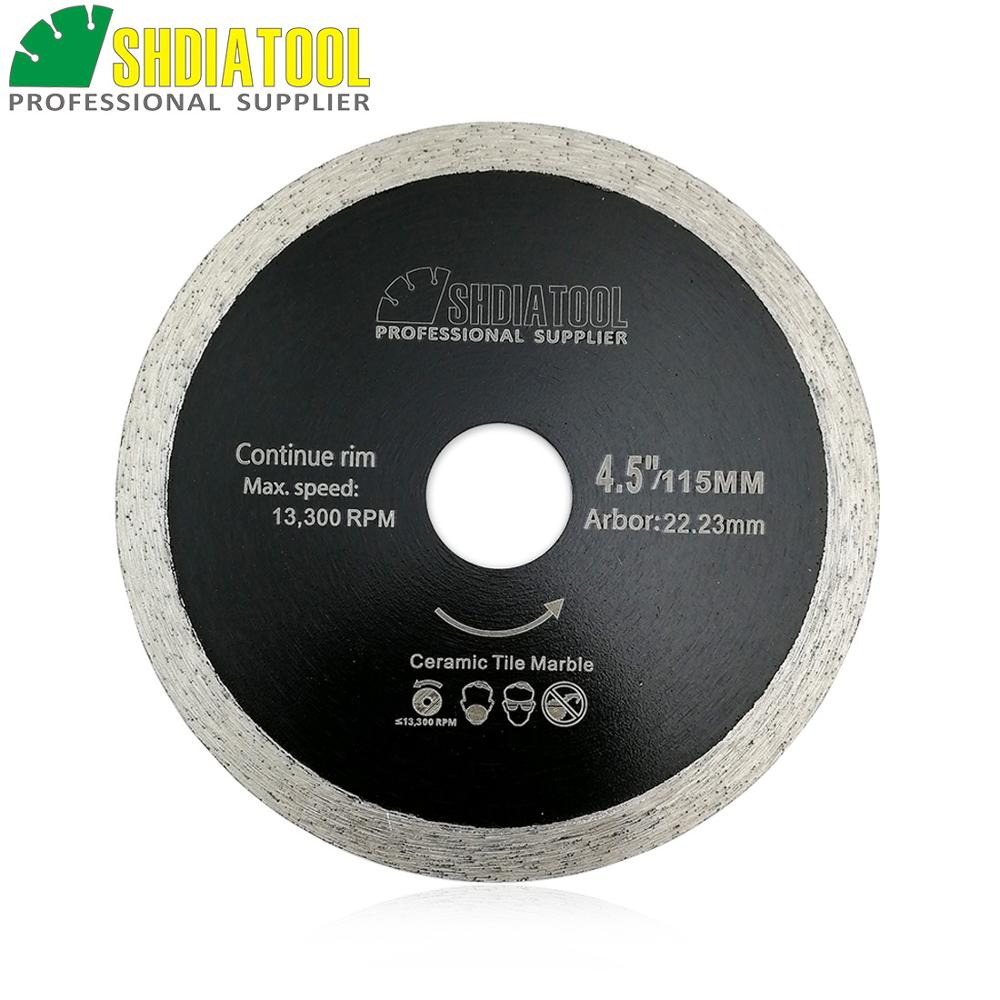 SHDIATOOL 10pcs 115mm Hot-pressed Thin Continue Rim Diamond Cutting Blades Ceramic Tile Hard Material Cutting Disc Chip-free