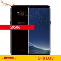 Samsung-teléfono inteligente Galaxy S8 G950U, teléfono móvil Original libre LTE, GSM, Android, Octa Core, pantalla de 5,8 pulgadas, cámara de 12.0mp, 4GB RAM, 64GB ROM, procesador Snapdragon 835, soporta NFC