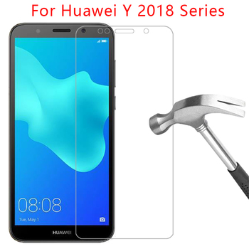 case for huawei y5 lite y6 y7 prime y9 2018 cover tempered glass screen protector on huawey y 5 6 7 9 5y 6y 7y protective coque image