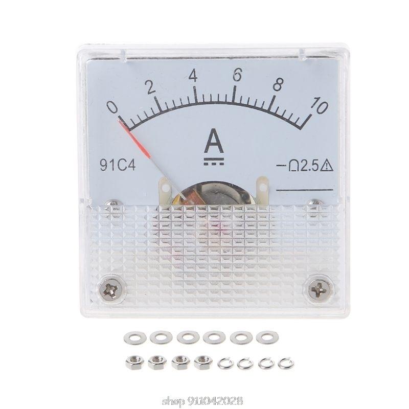 91C4 амперметр постоянного тока аналоговая панель измерителя тока механический указатель Тип 1/2/3/5/10/20/30/50/100/200/300/500mA в N12 20 Прямая поставка