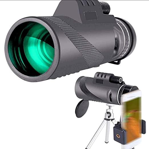 40X60 Monokular Fernglas Monocular Telescope Handy Teleskop mit Handy Halterung Stativ HD f    r Klettern Wandern Jagd Vogelbeobach