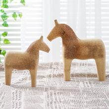 1 paar DIY Pferd Schmuck Hölzerne Leere Unfinished Holz Tier Form Design Handwerk cheap CN (Herkunft) Animal Ornament Desktop Ornament DIY Ornament DIY Wood Ornament
