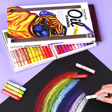 Kredki 12 24 36 48 kolory olej pastelowy rozpuszczalny w wodzie kolor długopis Graffiti długopis do malowania kredki Art Office szkolne kredki tanie tanio CN (pochodzenie) 12 kolory Crayons 12 kolory box Other Zestaw