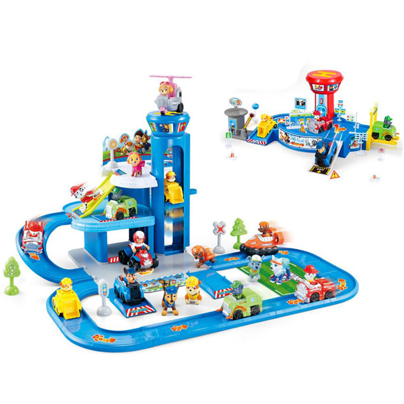 Paw Patrol toys set Action Figures track car paw patrol toy Patrulla Canina Juguetes anime Figures play Kids Gift Toy