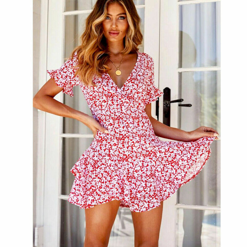 UK Fashion Women Summer Floral Off Shoulder Tops Loose T-shirt Casual Blouse Tee
