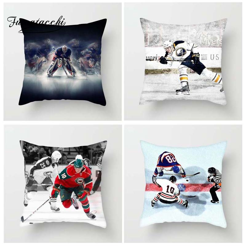 Ice Hockey  Cushion Cover Throw Pillow Cover Decorative Pillow Cover Sofa Pillow Case 2019