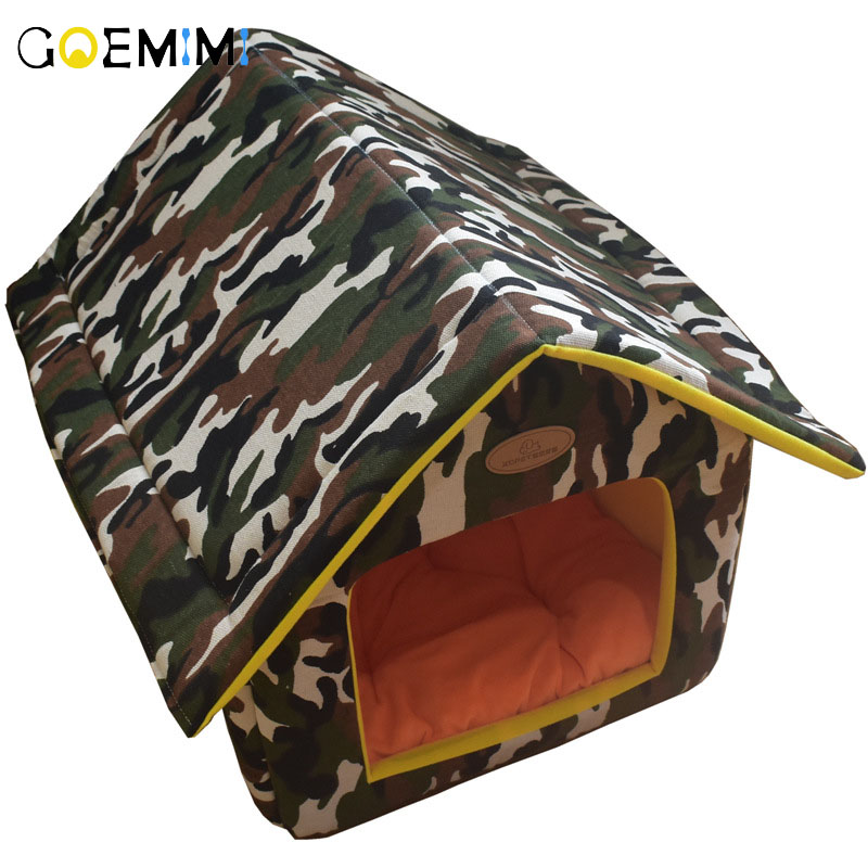 Dog House Detachable Fashion Print Kennel For Puppy Cat dog beds for small dogs cama para cachorro cats