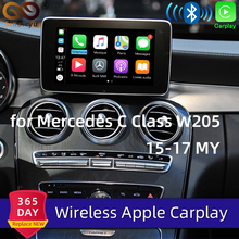 Sinairyu-retrovisor inalámbrico para Mercedes Clase C W205 GLC X253 15-19 NTG5, retrovisor automático con Android, Apple CarPlay OEM