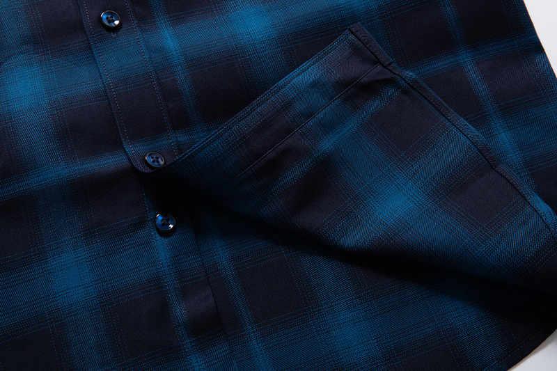 ビッグサイズ 8XL 7XL 6XL 秋新タータンチェックシャツメンズ長袖スリムフィット輸入服純粋な綿高品質プラスサイズ