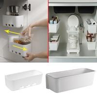 Caja de almacenamiento para el fregadero, organizador colgante de pared para especias, cajón, estante, botellas, armario, 2 uds.