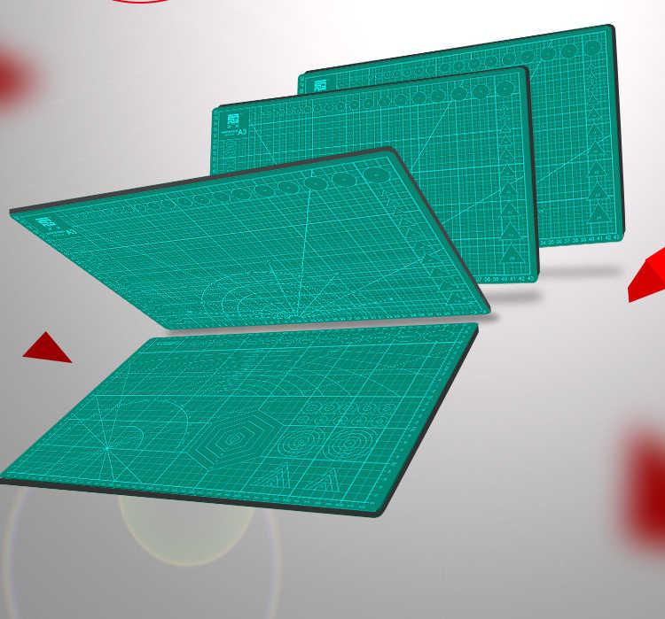 Bordo di taglio di A2 A3 A4 A5 Double-sided di Taglio Pad Pvc Pieghevole Manuale Raschiando Strumento Fai Da Te Verde Scuro Incisione pad di Auto-guarigione