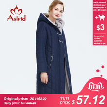 Astrid 2019 inverno nova chegada para baixo jaqueta feminina outerwear alta qualidade roupas soltas com um capuz casaco de inverno feminino 2674