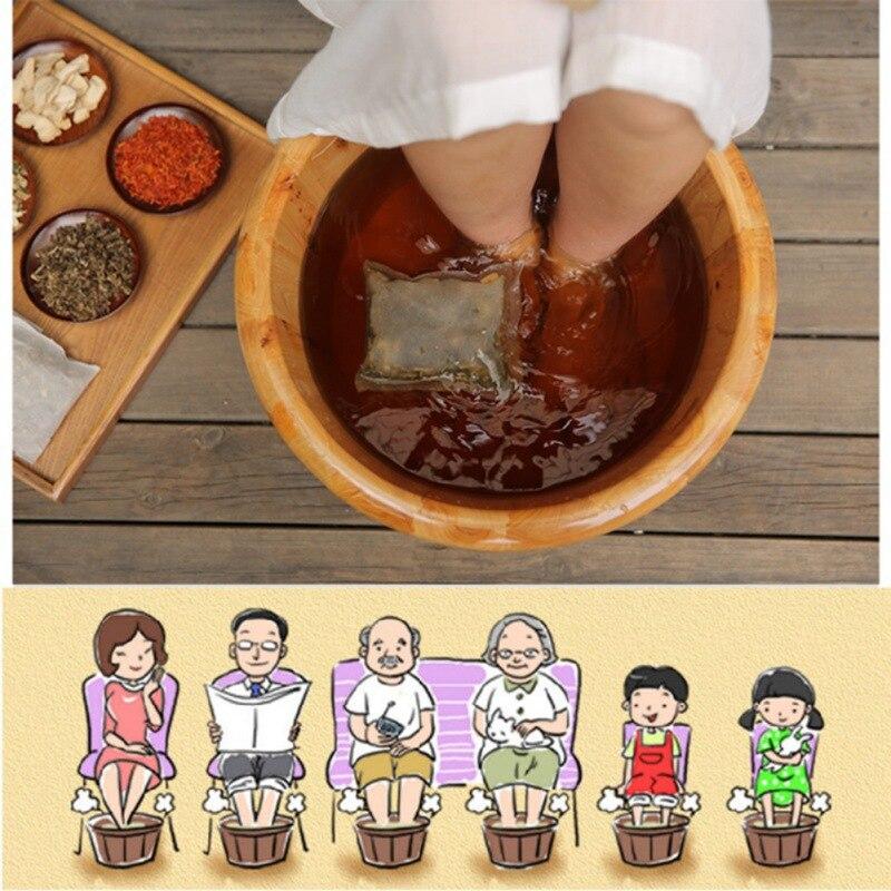 Foot Bath Powder Chinese Medicine Feet Washing Powder Skin Health Care(Wormwood, Ginger, Saffron,Angelica,Motherwort)