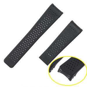 Fashion 22mm Silicone Watchband For TAG CARRERA Series Men Breathable Band Soft Watch Strap For Wrist Bracelet band Accessories(China)