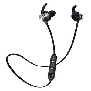 Магнитные Bluetooth-наушники с шейным ободом, беспроводные наушники-вкладыши, водонепроницаемые наушники, гарнитура с поддержкой TF-карты и микр...