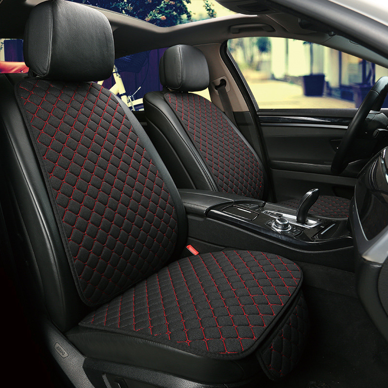 Image 3 - Car seat Front Rear Back Cushion Pad Mat with Backrest Car Seat Cushion Cover Front Rear Cushion Breathable Protector Protector-in Automobiles Seat Covers from Automobiles & Motorcycles