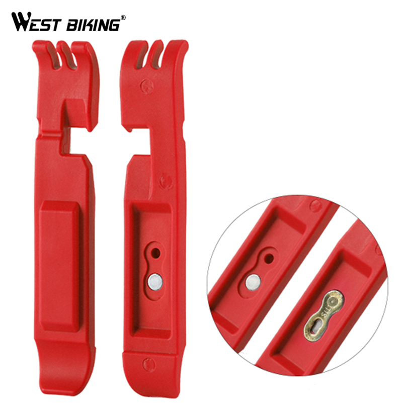 WEST BIKING Bicycle Tyre Lever Cycling Wheel Repair Tools Bike Master Link Chain Pliers Opener Breaker Bicycle Tire Pry Bar