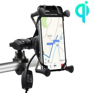 Image 5 - Yeni 12V Scooter ATV motosiklet telefon QC3.0 USB Qi hızlı şarj kablosuz şarj braketi tutucu için Tablet telefon