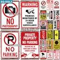 [SQ-DGLZ] Защитный металлический знак, Настенный декор, жестяной знак, винтажный Декор для дома, рисование, таблички, без парковки, художественн...