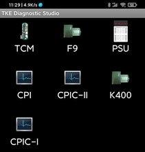 TCM CPI Elevator Mobile APP Tool K400 Door Machine Inverter Operator Bluetooth Debug Tool