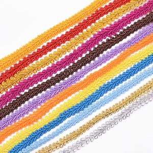 5m 8mm Gold Silver Centipede Braid Lace Ribbon For DIY Craft Sewing Accessories Curve Lace Braided Lace Ribbon Handmade Supplies