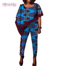 Летний Африканский костюм для женщин стандартный топ и брюки