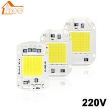 Led chip 10w 20 30 50 inteligente ic cob contas de luz 220v 240v diy para lâmpada led holofote