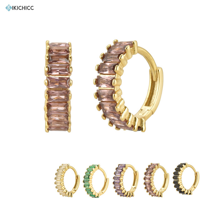 Kikichicc 925 argent Sterling 2020 l-rhodite ronde Zircon pavé cerceaux cercle rond boucles de luxe femmes cristal boucle doreille bijoux