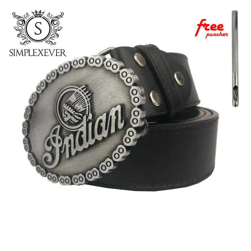 Silver Oval Belt Buckles For Cowboy Cowgirls Men's Belt Buckles With PU Belt As Jeans Accessories
