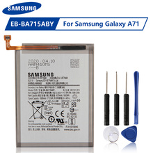 Original Samsung Battery EB-BA715ABY For Samsung Galaxy A71 SM-A7160 Genuine replacement battery 4500mAh Free Tools handsel original samsung replacement battery eb ba715aby for galaxy a71 sm a7160 genuine phone battery 4500mah