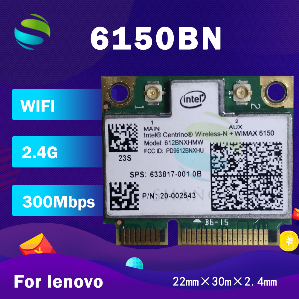For Intel Centrino Wireless-N+WiMAX 6150 612BNXHMW 300Mbps SPS 633817-001 Mini PCI-E 2.4G Network Card for Lenovo G480 G485 G580(China)