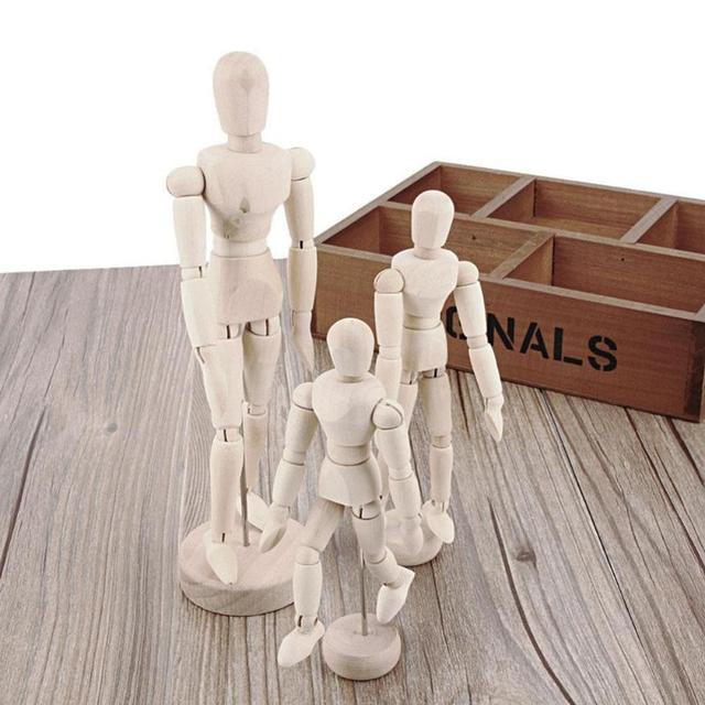 Wooden Artist Movable Limbs Male Wooden Toy Figure Model Mannequin bjd Art Sketch Draw Action Toy Figures 2