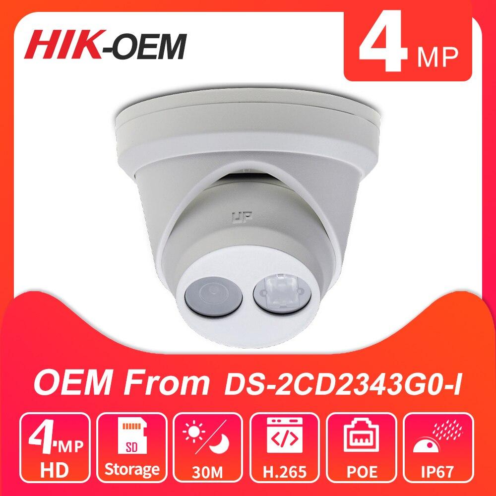 Hikvision 4MP IP Camera Original DS-2CD2343G0-I HD POE IP67 IR P2P Security CCTV